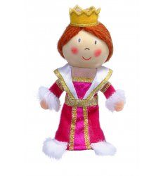 Fiesta Crafts Finger Puppet - Queen - G-1020