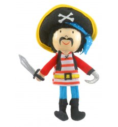 Fiesta Crafts Finger Puppet - Stripes Pirate - G-1028