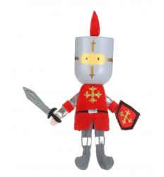 Fiesta Crafts Finger Puppet - Red Knight -