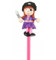 Fiesta Crafts Character Pencil - Girl Pirate -