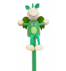 Fiesta Crafts Character Pencil - Green Dragon -