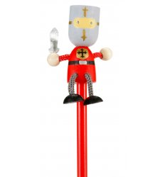 Fiesta Crafts Character Pencil - Red Knight -