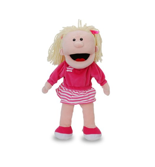 Fiesta Crafts Hand Puppet - Girl in Pink - T-2420