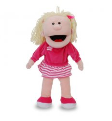 Fiesta Crafts Hand Puppet - Girl in Pink -