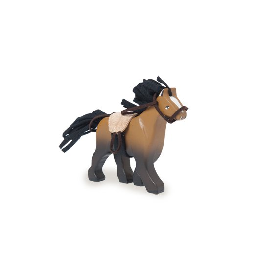 Le Toy Van Budkins - Brown horse with saddle - BK837