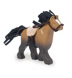 Le Toy Van Budkins - Brown horse with saddle -