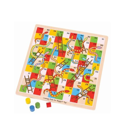 Bigjigs Traditional Snakes and Ladders - BJ788