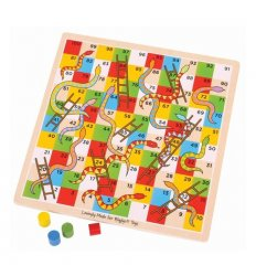 Bigjigs Traditional Snakes and Ladders -