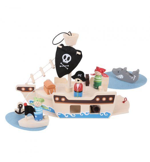 Bigjigs Mini Pirate Ship Playset - BJ685