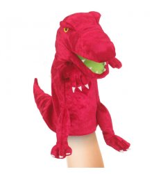 Fiesta Crafts Red Dinosaur Hand Puppet - T-2738