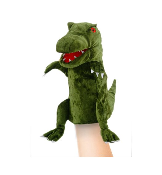 Fiesta Crafts Green Dinosaur Hand Puppet - T-2737