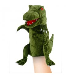 Fiesta Crafts Green Dinosaur Hand Puppet -