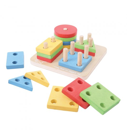Bigjigs First Four Shape Sorter - BB094