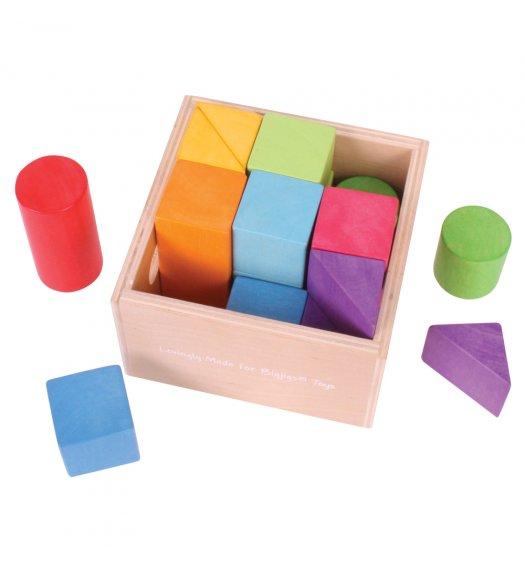 Bigjigs First Rainbow Building Blocks - BB095