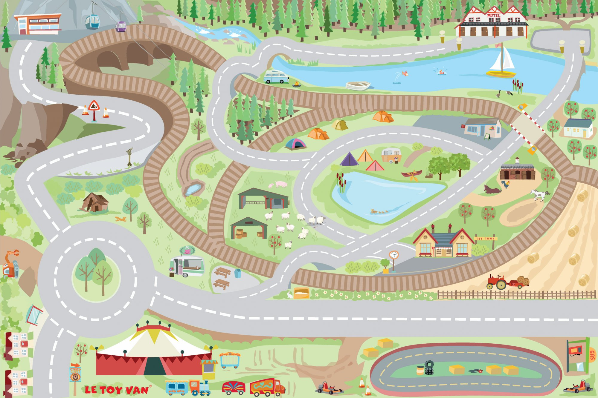 Le Toy Van My first country playmat - TV583