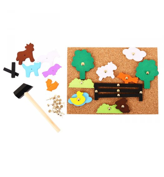 Bigjigs Farm Pin a Shape - BJ178