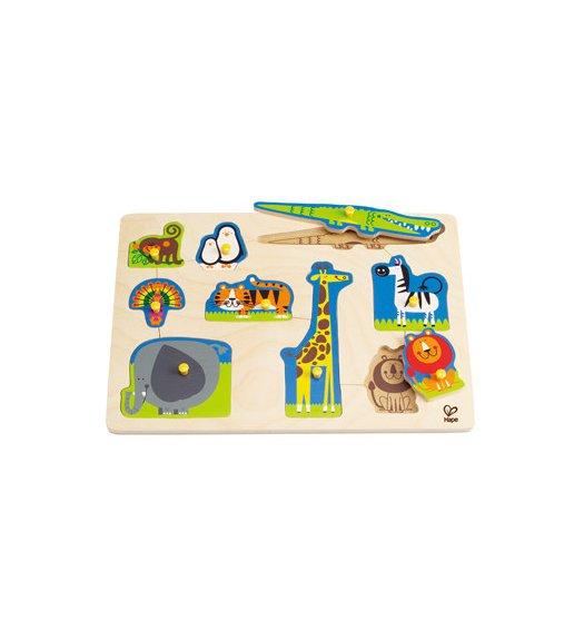 HAPE Wild Animals Peg Puzzle - E1403
