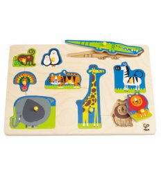 HAPE Wild Animals Peg Puzzle -