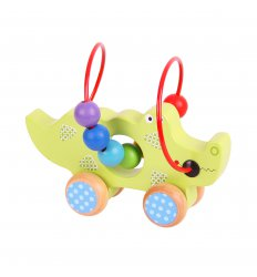 Bigjigs Crocodile Push Along Bead Frame -
