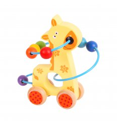 Bigjigs Giraffe Push Along  Bead Frame - BB069