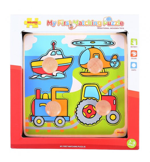 Bigjigs My First Matching Peg Puzzle - Transport - BJ519