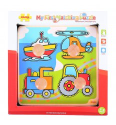Bigjigs My First Matching Peg Puzzle - Transport -