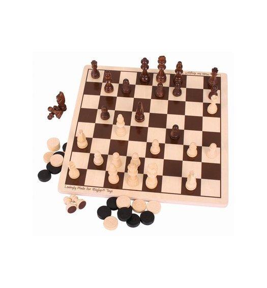 Bigjigs Draughts & Chess Set - BJ789