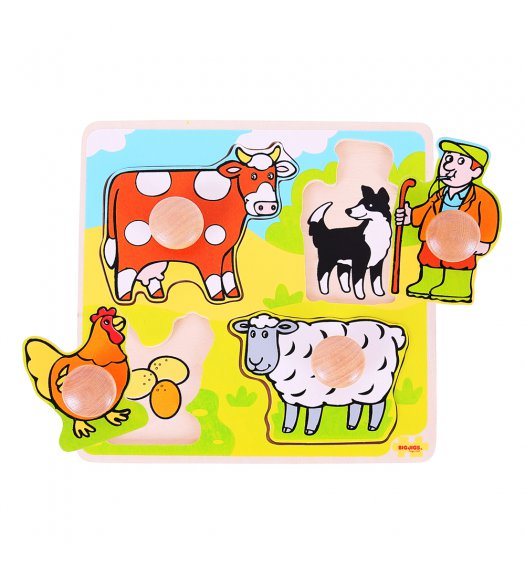Bigjigs My First Matching Peg Puzzle - Farm - BJ520