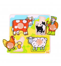 Bigjigs My First Matching Peg Puzzle - Farm -