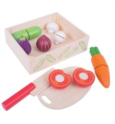 Bigjigs Cutting Food -  Veg Crate -