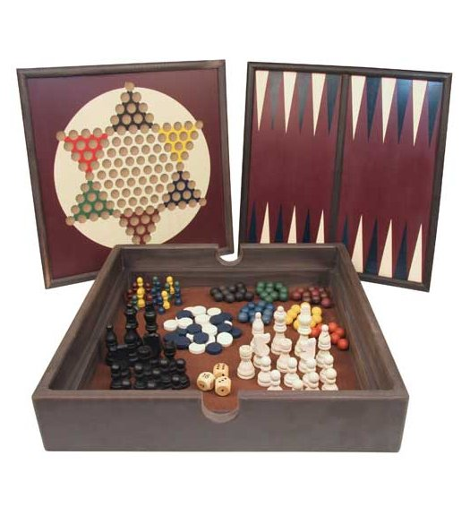 5 in 1 Wooden Game Set - 53305