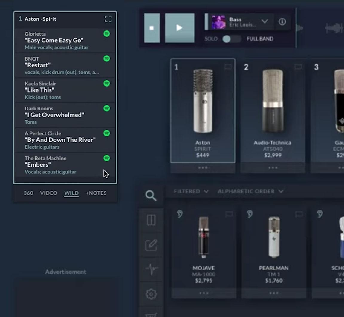 Altar.io - ATK Top Songs per Microphone