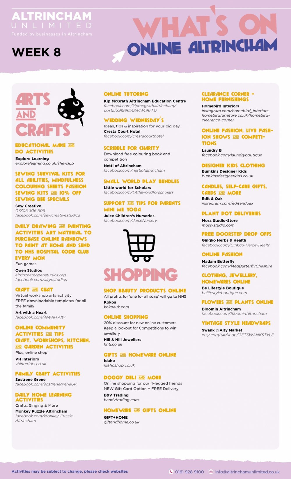 What's On Guides - Takeaway, Retail and Online
