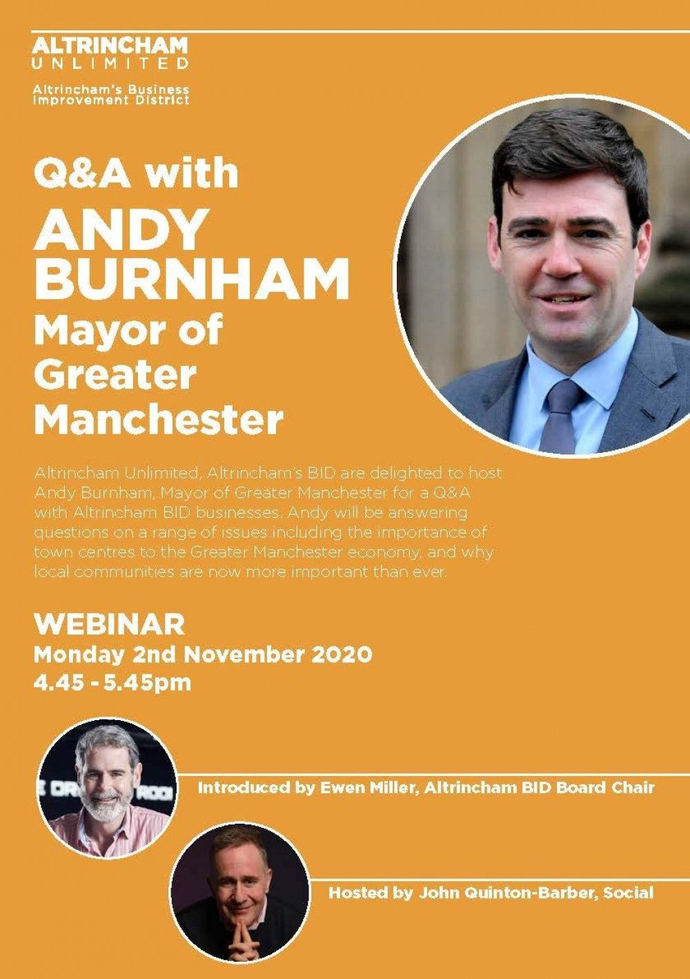 BID Business Event with Mayor of Greater Manchester