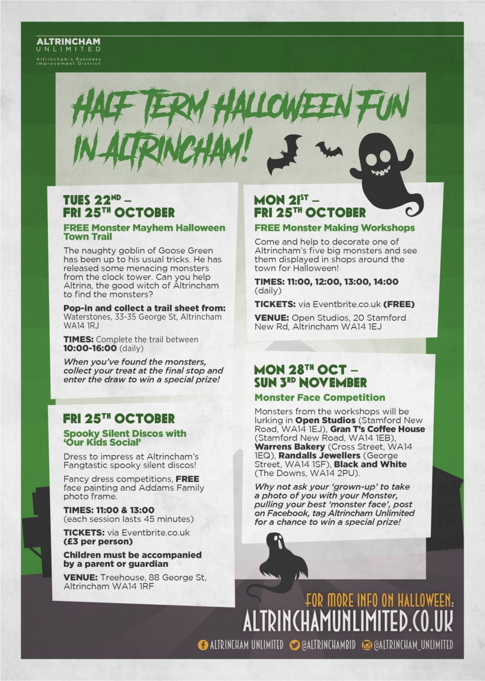 Join Altrina, Altrincham's Good Witch, for family fun this October Half-Term