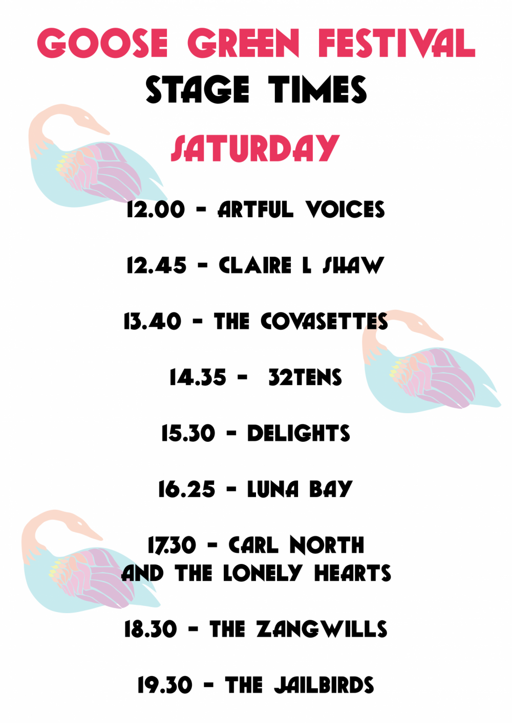 Goose Green Festival Full Line-Up & Stage Times Announced