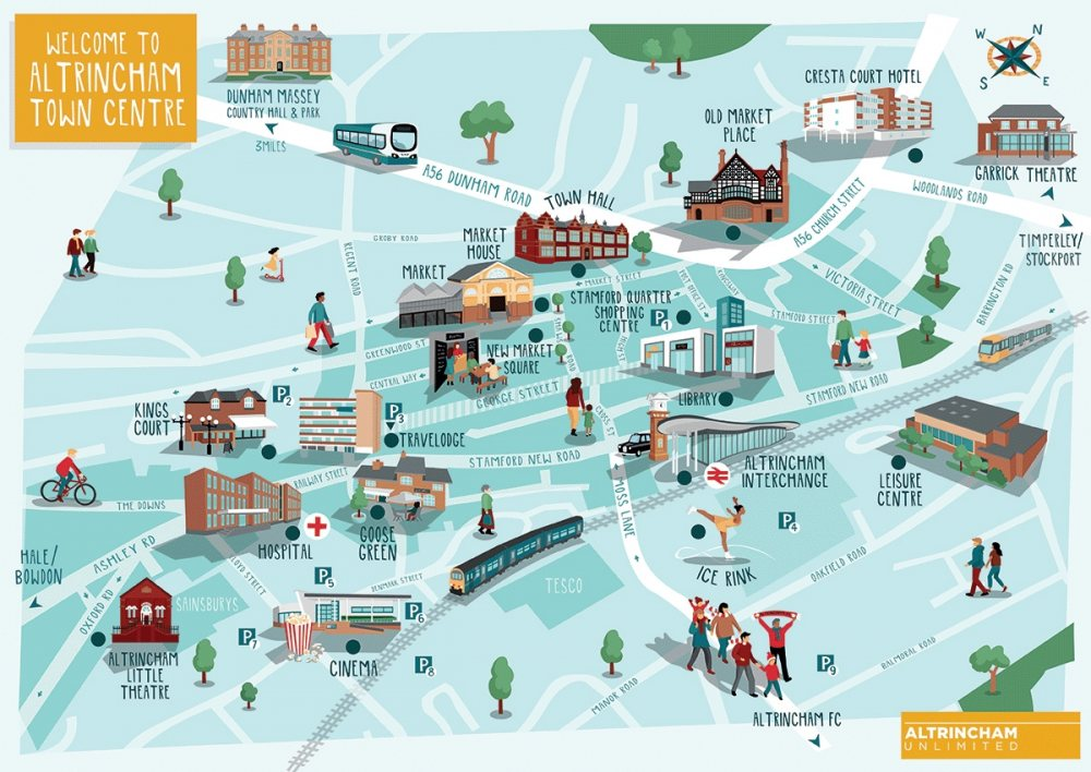 New Altrincham town centre map