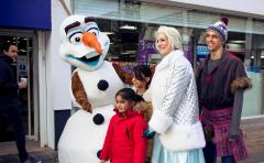 Olaf From Frozen Visits Altrincham