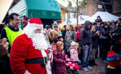 Visit From Father Christmas In Altrincham 2016