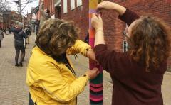 Yarn Bombing Installation