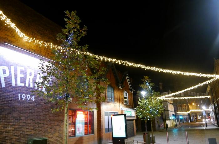 Enhanced Christmas displays light up Altrincham town centre