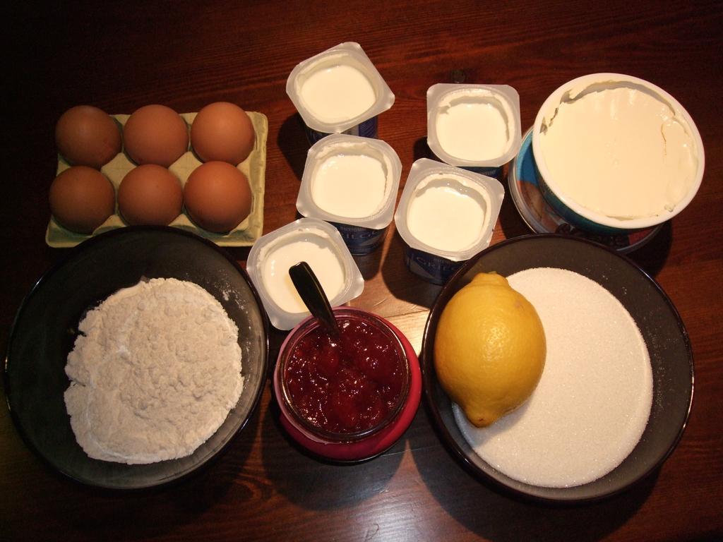 Ingredientes para la tarta