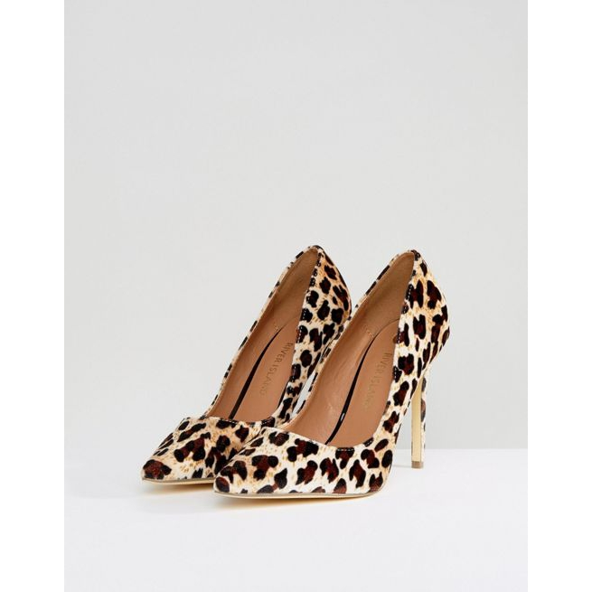 824a56424f9 River Island Leopard Print Pointed Court Shoe - Amaliah