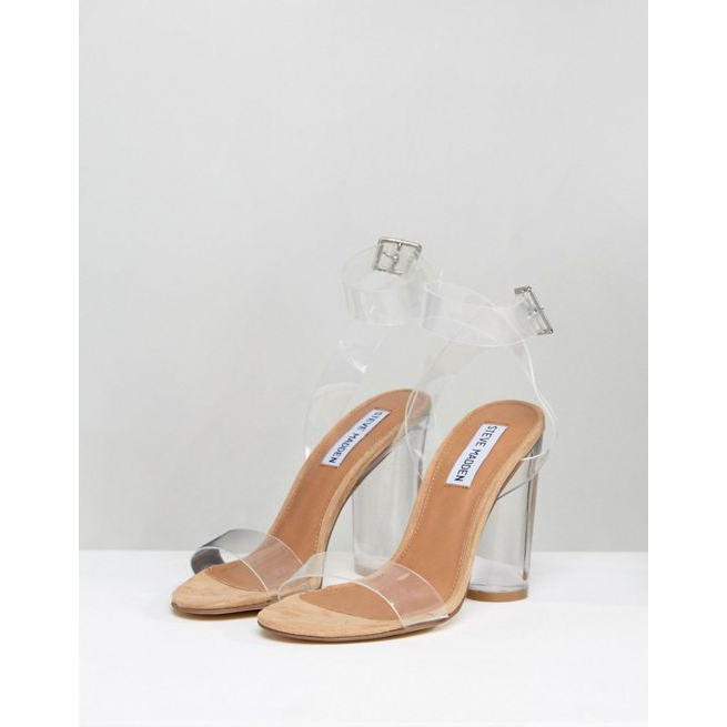 728d77403ce Steve Madden Clearer Barely There Heeled Sandals - Amaliah