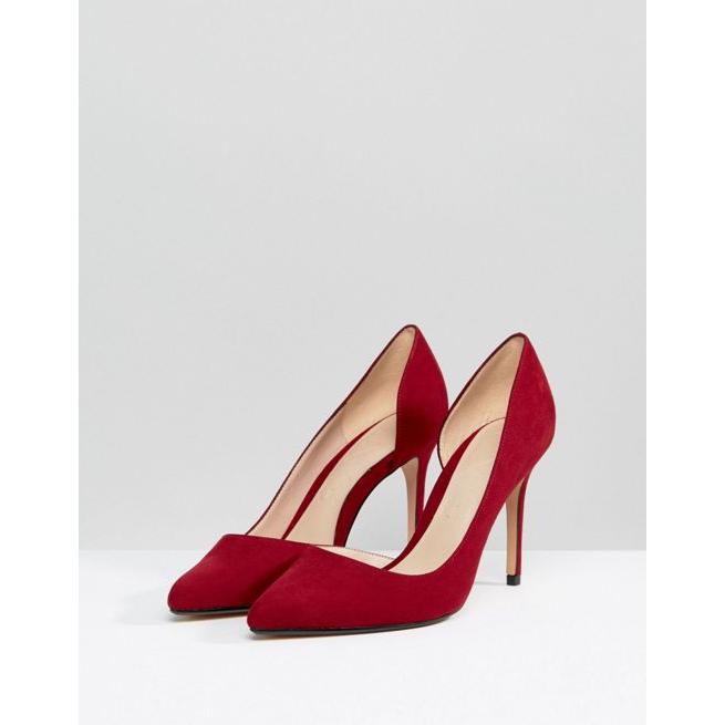 b3bc83d1054 Mango Red Pointed Court Shoe - Amaliah