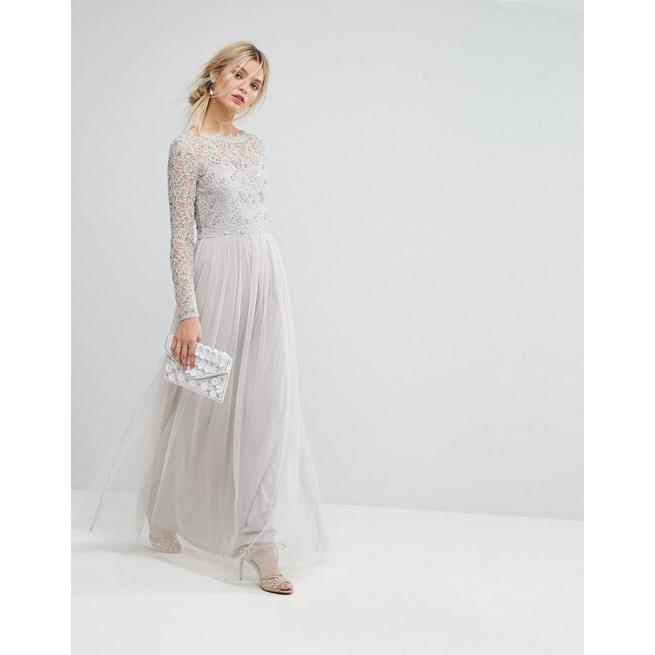 e8b579c221c Amelia Rose Embellished Lace Maxi Dress - Amaliah