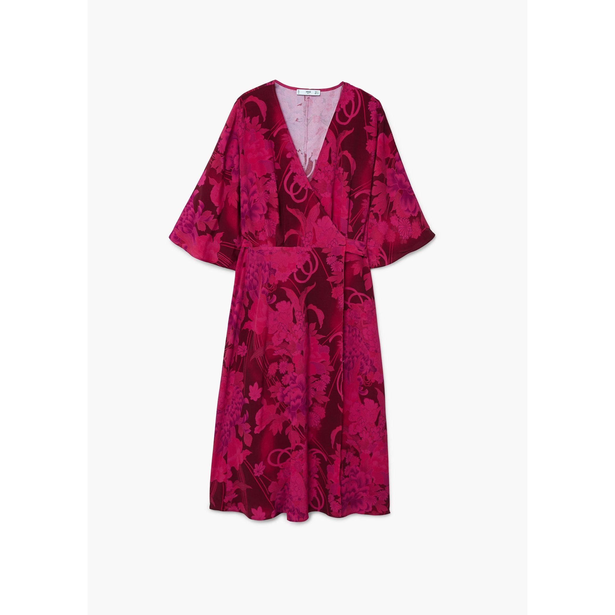 4fca1ae623273 Mango Floral Wrap Midi Dress - raveitsafe