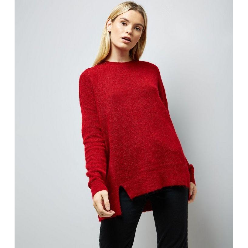 23b6151fdfb Red Textured Longline Jumper