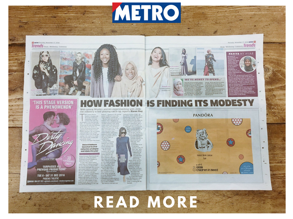 Featured in the Metro, the rise of modest fashion.
