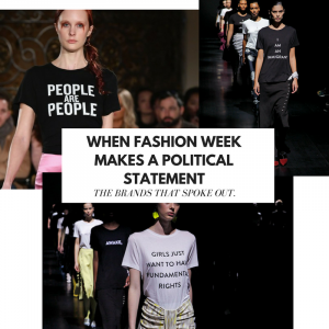 When Fashion Week makes a political statements.1